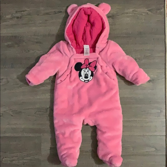 Disney MINNIE MOUSE Puffy Hooded Coat Jacket Size 3T 4T Girls Costume Polka Dot